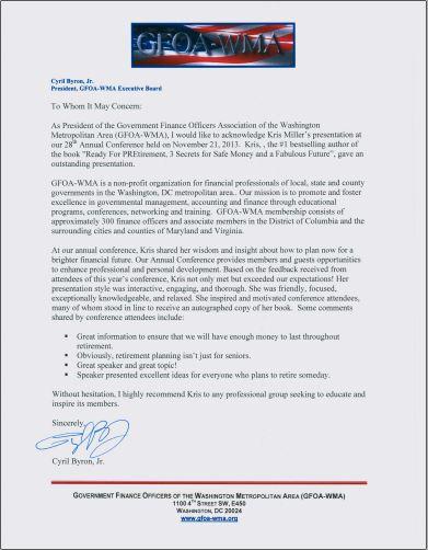APA Thank You Letter